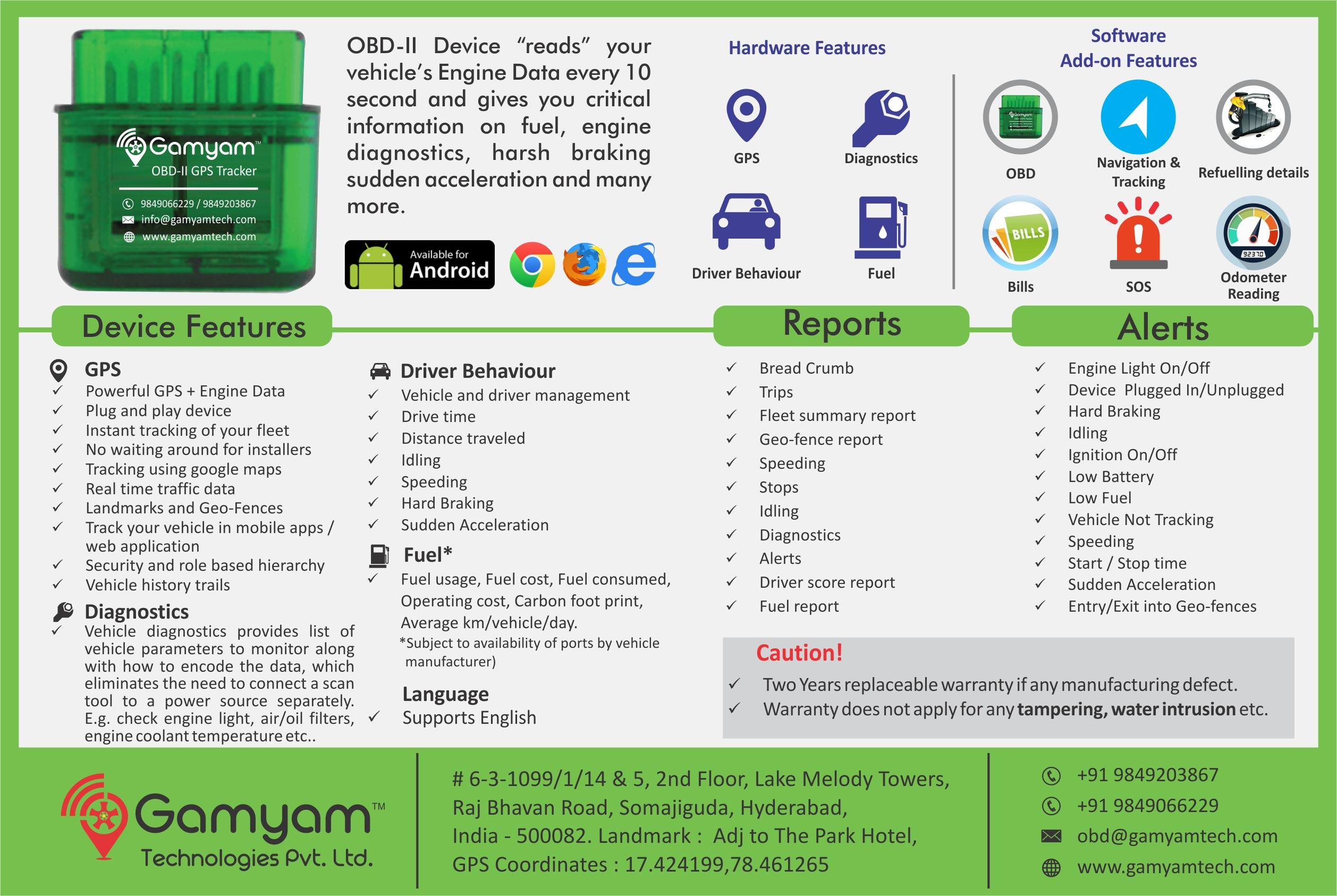Gamyam Technologies Tracking Tracking Number Gps